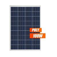 Placa solar 100w panel modulo fotovoltaico Policristalino 12V
