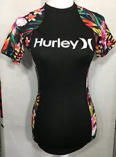 NEW Hurley Women's SZ M One and Only Surf Shirt Garden Mod Rash Guard - UPF 50+