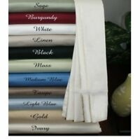 1000 Thread Count Egyptian Cotton 3 pc Fitted Sheet Set All Size & Solid Colors