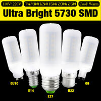 B22 E27 GU10 G9 LED E14 110V/220V AMPOULE MAÏS 7W 25W SMD 5730 110V 220V LUMIÈRE
