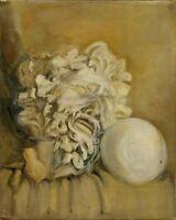 """Russischer Realist Expressionist Öl Leinwand """"Gipskopf"""" 49 x 39 cm"""