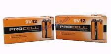 Duracell Procell 9V 9 VOLT Alkaline Batteries 24 (2 BOXES OF 12)