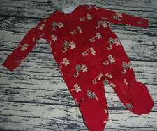 Gymboree Gingerbread Boy 5-9 lbs. Preemie Sleeper Footed Pajama Sleepwear NWT