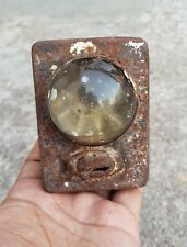 1950's VINTAGE TIN BICYCLE BATTERY LAMP / LIGHT WITH ON-OFF SWITCH