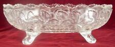 Oak Leaf EAPG Oval Footed Serving Bowl Candy Dish Model Flint Glass Co (O) AS IS