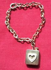 Vintage chain bracelet with music box, gold tone