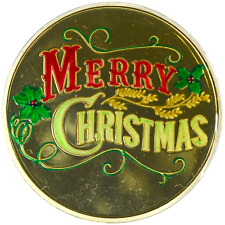 1 oz Silver Round Merry Christmas 2014 Enameled Colored in Capsule