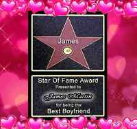 VALENTINES HOLLYWOOD STAR PERFECT GIFT FOR HIM OR HER GREAT FOR  ANNIVERSARY