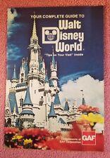 WALT DISNEY WORLD COMPLETE VISITOR GUIDE BOOKLET - 1977