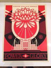 OBEY Shepard Fairey Green Power 2014 Print Poster Rare Glory