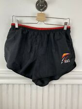 Vtg ASICS Running Shorts SIDE SPLIT Runner Short Swim Lining Mens Large Marathon