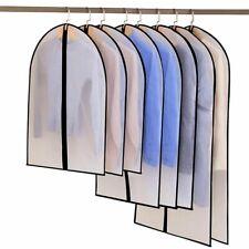 6pcs/set Clothing Covers Clear Suit Bag Breathable Zipper Dust Cover Storage Bag