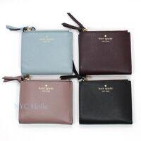 Kate Spade Small Malea Mulberry Street Double Zipper Leather Wallet WLRU3075