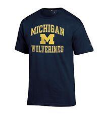 NCAA Michigan Wolverines Men's Champion Classic Graphic T-Shirt Tee, Small, Navy