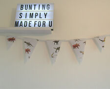 Dinosaur Bunting Teenager Adult Party Grey Decor Nursery Unisex Birthday