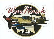 P-40 WAR HAWK AIRPLANE  Sticker Decal