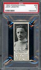 1925 V31 Dominion Chocolate #86   Jack Langtry   Hockey   PSA 5 !