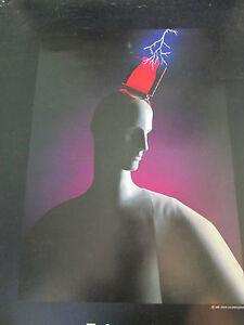 Vintage 80's Black Techno Sapiens 1985 Steve Hix Photography Poster Print 31x22