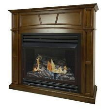 "Pleasant Hearth 32k BTU 46"" Full-Size Heritage Vent-Free Fireplace System"