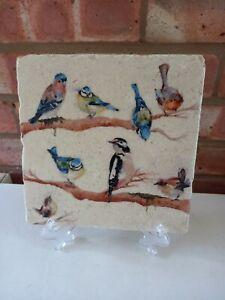 Kate of Kensington Medium Marble Platter - Garden Party Birds 20x20cms - New