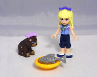 Lego Friends Figur Stephanie mit Brille, Bärchen Schleife Fisch Teller  #7