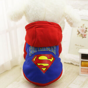 Small Boy Dog Hoodie Vest Coat Clothes Outfit Costume F Pet Cat Puppy Chinhuahua