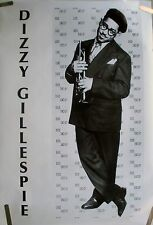 RARE DIZZY GILLESPIE EARLY 1990'S VINTAGE ORIGINAL JAZZ TRUMPET MUSIC POSTER