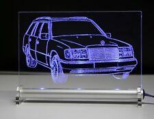 LED Leuchtschild - graviert ist  W124T DB kombi AutoGravur    LED Sign