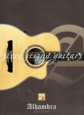 ALHAMBRA Acoustic Guitar Catalogue, 2004, Very Good Condition