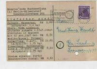 Germany 1949 Berlin Overprint Lungen Tbc Slogan Cancel Stamps Card Ref 24028