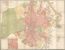 1945 Madrid City Council City Map or Plan of Madrid, Spain