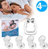 4PC Silicone Magnetic Anti Snore Nose Clip Stop Snoring Apnea Aid Device Stopper