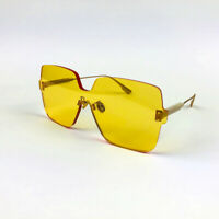 New Christian Dior Color Quake 1 Gold Yellow Sunglasses Eyewear Women