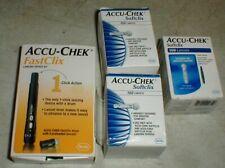 Accu Chek FastClix Lancing Device Kit & 256 Softclix Lancets Blood Glucose 08-20