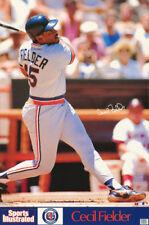 POSTER : MLB BASEBALL : CECIL FIELDER- DETROIT TIGERS  -  FREE SHIP #7523 RC39 R