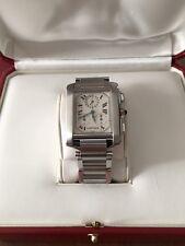 Cartier Tank Francaise 2303 Swiss Quartz Chronograph Stainless Steel Men's Watch