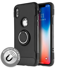 Hybrid Sports PC+TPU Magnetic Plate Stand Cover Case Black for Apple iPhone X
