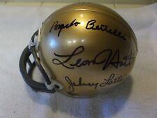 Notre Dame Heisman Trophy (6) Signed Mini Helmet.