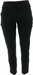 Women with Control Seamed Tummy Control Ankle PantsPockets Black XXS # A302064