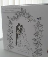 3D 8x8 WEDDING DAY ANNIVERSARY CONGRATULATIONS CARD HANDMADE and PERSONALISED