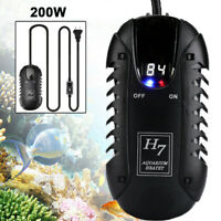 200W Mini Auto Aquarium Fish Tank LED Digital Heater Adjustable Thermostat