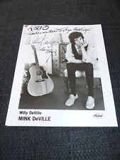 WILLY DEVILLE (+ 2009) signed Autogramm auf 20x25 cm Bild LOOK