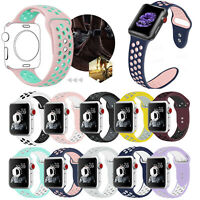 Replacement Silicone Sport Band For Apple Watch 1/2/3/4 iWatch 38/42mm Wristband