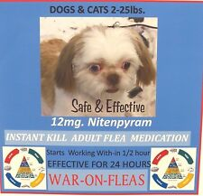 Flea Control Killer Capsules Dogs & Cats 2lbs.-25lbs (12 Pack) $9.98 SALE