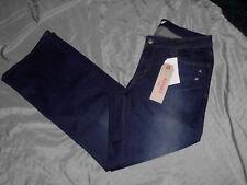 Womens New 16S Size 33 x 30 Levi's 529 Curvy Distressed Dark Wash Boot Cut Jeans