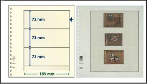 5 LINDNER 802320 T-Blanko-Blätter Blankoblätter 3 Taschen 72/73/73x189cm