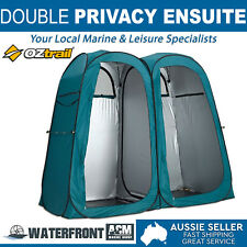 Oztrail Pop Up Double Ensuite Tent Outdoor Bag Camping Toilet Shower Change Room