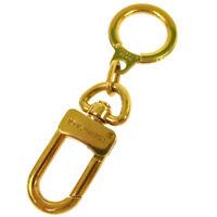 LOUIS VUITTON Bag Charm Key Holder Gold France Vintage Authentic AK35559g