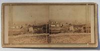 A Identificare Francia Italia Foto Stereo di Carta Vintage verso 1860