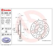 DISCO DE FRENO (2 piezas) BREMBO Xtra Line - BREMBO 09.5802.2x
